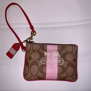 Coach Wristlet w. Pink Accents